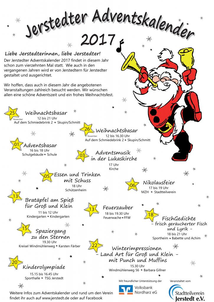 Plakat Adventskalender 2017
